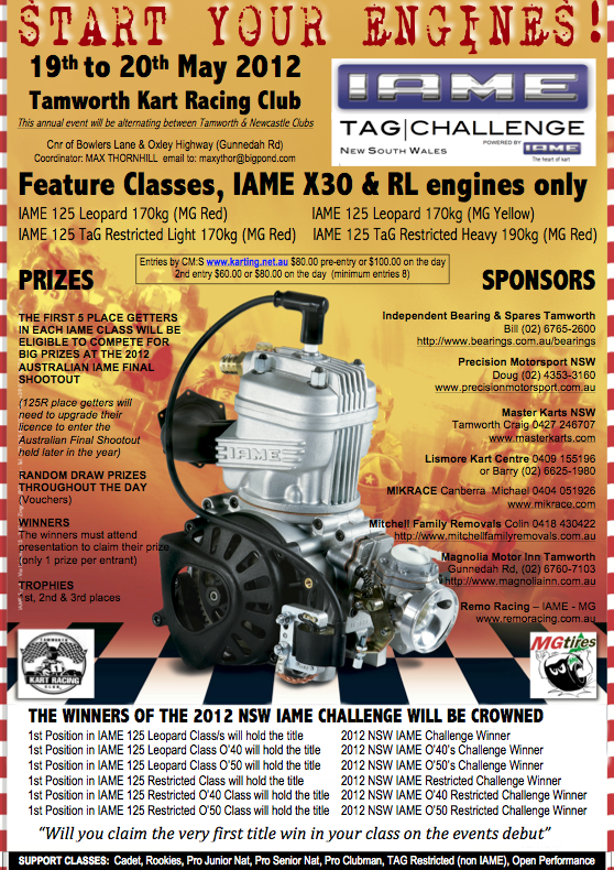 2012 nsw iame tag chall flyer