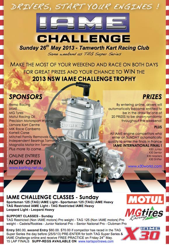 2013 IAME CHALLENGE