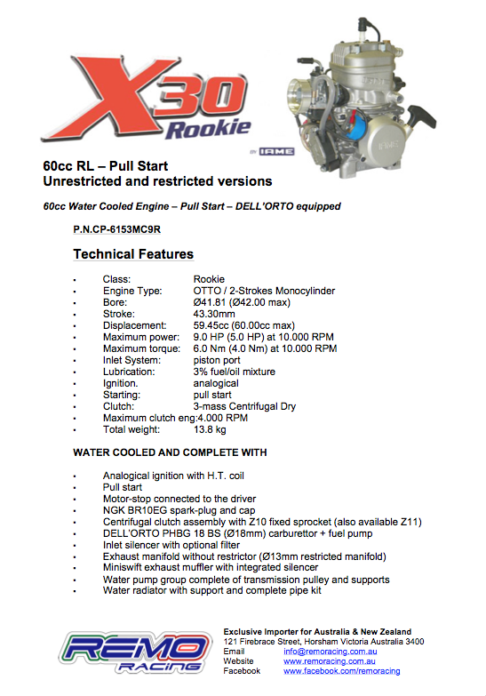 Brochure X30_Rookie_60cc